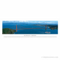 Panoramic Golden Gate Bridge Skyline Poster