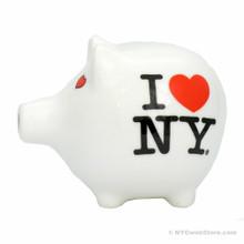 I Love NY Ceramic Piggy Bank Souvenir