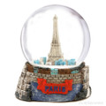 Colorful Paris Snow Globe