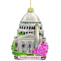 Washington DC Christmas Ornaments, Glass