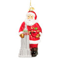 empire state building christmas ornament with santa
