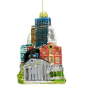 Boston Christmas ornament of the Boston skyline and landmarks