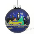 NYC Taxi Glass Ball Ornament