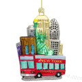 New York City Tour Bus Glass Ornament