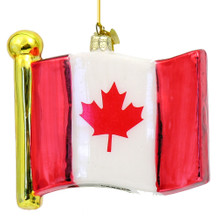 Canadian Flag Christmas Ornaments
