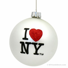 I Love NY Christmas Ornaments, glass ball