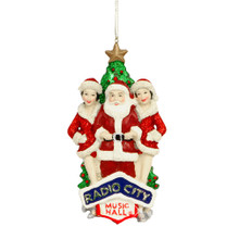 Radio City Rockettes and Santa Ornament