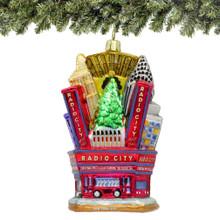 3D Radio City Music Hall Glass Ornaments