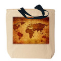 Antique World Map Tote Bag