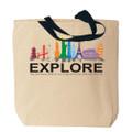 Global Landmarks Explore Canvas Tote Bag