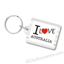 I Love Australia Key Chains, I Heart Australia