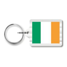 Irish Flag Plastic Key Chain