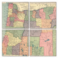 Oregon Map Coaster Set of 4