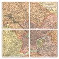 Philadelphia Map Coaster Set of 4
