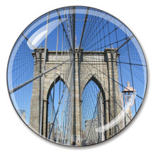 Brooklyn Bridge Crystal Paperweight