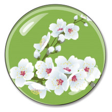 Cherry Blossom Crystal Paperweight