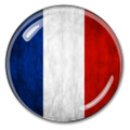 French Flag French Crystal Paperweight