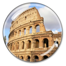 Coliseum Crystal Italian Paperweight