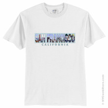 San Francisco T-Shirt with Landmarks Youth