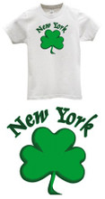 New York City Saint Patrick's Day T-Shirt Shamrock