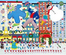 NYC Holiday Parade Scene Art
