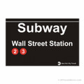 Wall Street Subway Magnet