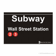 Wall Street Subway Magnet