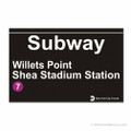 Shea Stadium Subway Magnet