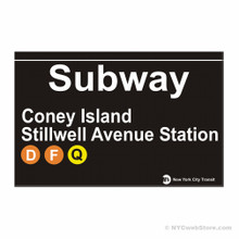 Coney Island Subway Magnet