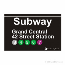 Grand Central Station Subway Magnet