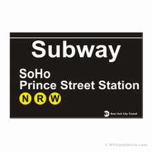 SoHo Station Subway Magnet