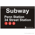 Penn Station Replica Subway Sign