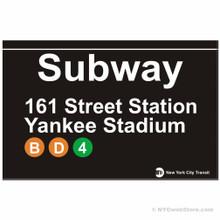 Yankee Stadium Replica Subway Sign
