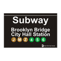 Brooklyn Bridge Replica Subway Sign