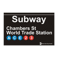 World Trade Center Replica Subway Sign