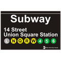 Union Square Replica Subway Sign