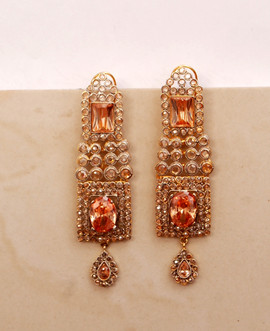 Ladies Gold Plated Earings USA