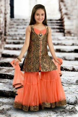 Desi Kids Clothing Orange