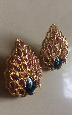 buy Artificial Fashion Jewelry Earring Peacock