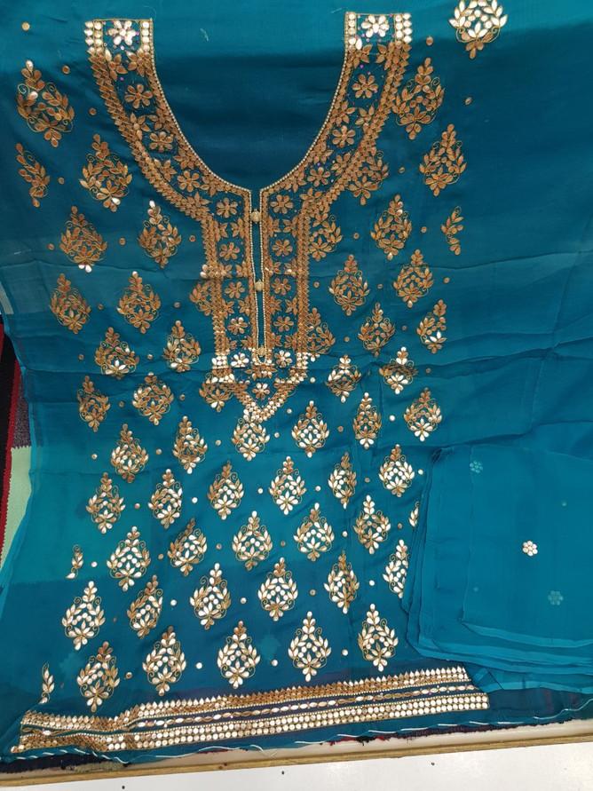 Buy Badla Mukaish Gota Embroidery Canada