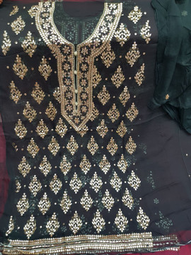 online shopping Badla Mukaish Gota Embroidery Oxford