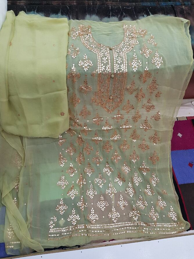 shop Badla Mukaish Gota Embroidery London
