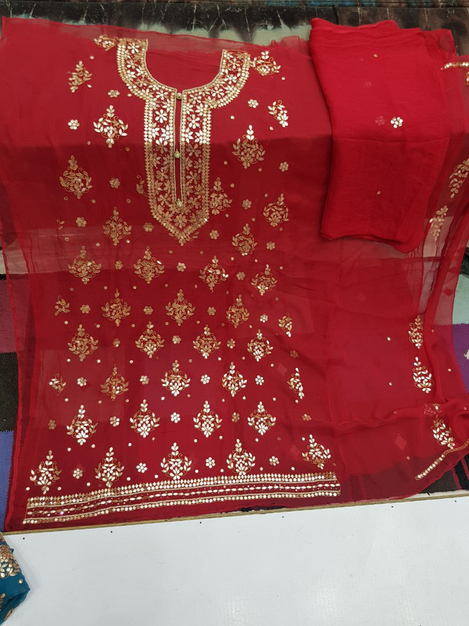 Badla Mukaish Gota Embroidery Chicago