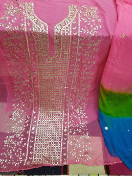 latest Badla Mukaish Gota Embroidery Scotland