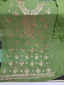 Badla Mukaish Gota Embroidery Bostan