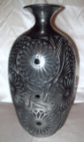 DR-102 Classic Vase Narrow Neck Flared Mouth Filigree