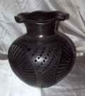 BC-2 Round Vase Filigree Frilled Mouth