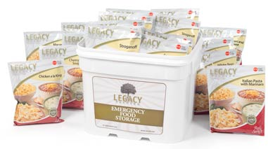 Legacy Emergency Food Storage 25 Year Self Lift