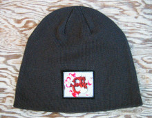 Om with rose petals Organic Cotton Beanie Hat