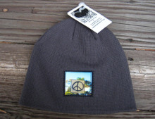 Peace Sign Taos Organic Cotton Beanie Hat